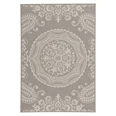 Georgiana Rectangular Patio Rug - Grey/Creme : Target Mobile