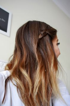 wavy ombre hair. I love this. This may be my summer hair...