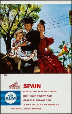 KLM Poster / Spain / 1960s-1970s