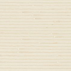 Banded Grasscloth | 5007900 in Cream | Schumacher Wallcovering |  The horizontal stripe has a handmade, artisanal quality that imparts a natural, organic note to a room; in a delicate ivory hue.