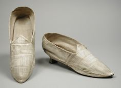 England, circa 1785Pair of Woman's Shoes | LACMA Collections