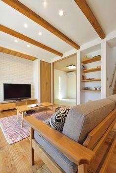 home living room ideas Home Office Design, Modern House Design, Home Living Room, Living Room Designs, Japanese Furniture, Japanese Interior Design, Yellow Houses, Restaurant Interior Design, Bedroom Decor