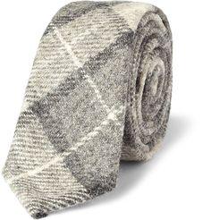 Thom BrownePlaid Wool Tie|MR PORTER