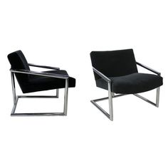 Pair of Milo Baughman Lounge Chairs | From a unique collection of antique and modern lounge chairs at https://www.1stdibs.com/furniture/seating/lounge-chairs/
