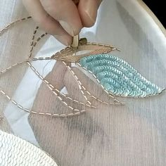 Introduction to tambour beading with karen torrisi from london – artofit Embroidery Materials, Bead Embroidery Patterns, Bead Embroidery Jewelry, Embroidery Supplies, Hand Embroidery Stitches, Embroidery Techniques, Embroidery Designs, Zardozi Embroidery, Tambour Embroidery