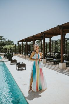 Fairmont Mayakoba x LIKEtoKNOW.it - color block dress, a mere co dress, vacation style // Notjessfashion.com