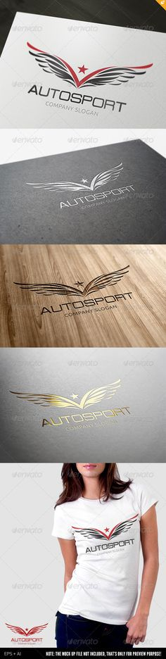 "Autosport Logo #GraphicRiver Autosport – Logo Template This logo design for Auto Sport company. Logo Template Features AI and EPS 300PPI CMYK 100% Scalable Vector Files Easy to edit color / text Ready to print This Logo use free font from Google web fonts : - Font name ""Ubuntu"" and you can download at "" .google /webfonts/specimen/Ubuntu"" This Logo use free font from .dafont : - Font name ""Probert"" and you can download at "" .dafont /probert.font"""