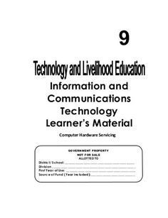 K-12 Module in TLE - ICT Grade 9 [All Gradings] Education Information, Information And Communications Technology, Teaching Computers, Computer Hardware, Writing Paper, Pdf, School, Printable, Notes