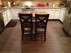 """Tampa, Florida porcelain """"wood look"""" plank tile install (Florida Tile Berkshire Olive 6x24) #planktile #tampa #ceramictec"""