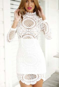 Long Sleeved Lace Dress on Luulla