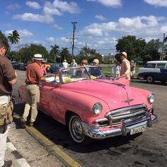 Classic Car on Plaza de la Revolución - Havana Cuba