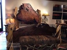 wood slab beds
