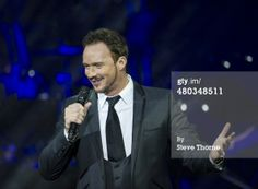 Russell Watson performs on stage at Symphony Hall on…