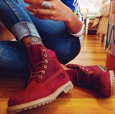 738e99dc18cf Timberland Red Timberland Boots, Red Ugg Boots, Timberland Outfits Women,  Tims Boots,