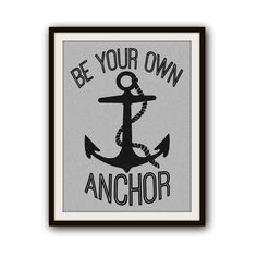 Teen Wolf Inspired Typography Beach Anchor Poster Print