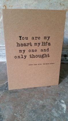 Arthur Conan Doyle Love Quote Greetings Card, Vintage Style on Etsy, £2.50