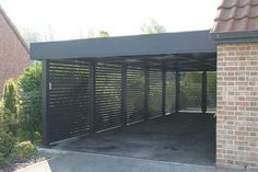 This unique garage door curb appeal is absolutely a stunning design theme. Carport Sheds, Carport Garage, Pergola Carport, Pergola Shade, Diy Pergola, Pergola Ideas, Rv Carports, Diy Garage, Pergola Kits