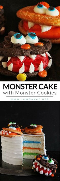 Here's an easy monster cake with monster cookies you can create with your kids this Halloween! Create this cute homemade cake with chocolate buttercream. Pin this to your Halloween Recipes board. @iambaker #iambakerdessert #iambaker Shared by Where YoUth Rise