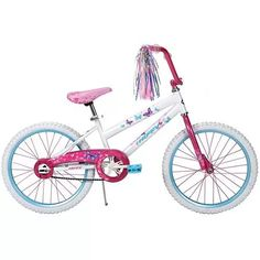 "20"" Huffy Sea Star Girls' Bike, Pearl White"