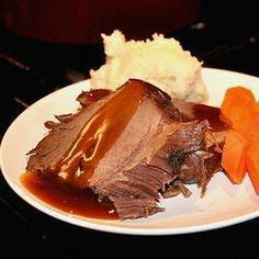 This tender slow cooked venison roast makes its own teriyaki flavored gravy in the slow cooker. Deer Recipes, Wild Game Recipes, Fish Recipes, Recipies, Chicken Recipes, Venison Recipes, Slow Cooker Recipes, Crockpot Recipes, Cooking Recipes