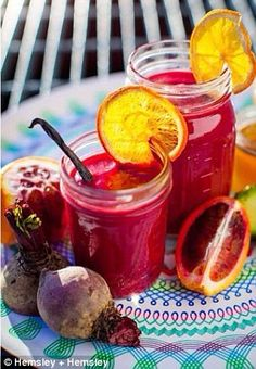 The love smoothie: A sweet, cool and tangy smoothie made from beetroot, blood orange, vani...