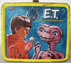 X061 E.T. The Extra-Terrestrial metal Lunch Box,1982 by Aladdin