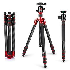 Neewer Carbon Fiber 67170cm Tripod Monopod with 360 Degree Ball Head14Quick Release Plateand Bubble Level Including Carrying Bag for DSLR CameraVideo CamcorderLoad Capacity 33lbs15kg ** Check this awesome product by going to the link at the image. Note: It's an affiliate link to Amazon