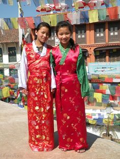 Local fashion: Traditional costume of Nepal - Sherpa girls