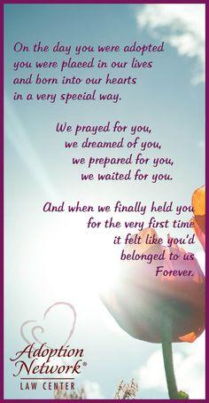 A beautiful poem about adoption! #worththewait #adoptionislove