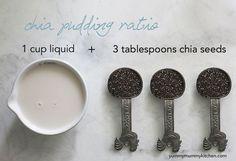 Chia pudding ratio. #vegan #dessert