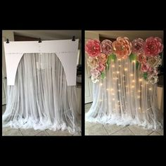 Bridal Shower Decorations Diy - New ideas Quinceanera Decorations, Stage Decorations, Bridal Shower Decorations, Birthday Decorations, Wedding Decorations, Craft Wedding, Paper Flower Backdrop, Paper Flowers Diy, Diy Wedding Backdrop