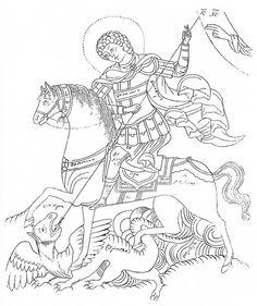 Markelov Russian Orthodox Icon  Heilige Joris de Drakendoder