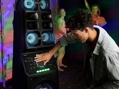Experience the power of tall Sony Home Audio system with Wi-fi, bluetooth party speaker featuring party lights, karaoke and DJ effects. Wireless Music System, Audio System, Audio Music, Audio In, Radios, Stereo Turntable, Party Speakers, Dj Sound, Block Party