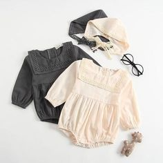 Female Babies romper Conjoined Clothes Autumn Months Long Sleeves Kazakhstan And Hat Baby Girl Clothes Funny Baby Rompers - June 01 2019 at Baby Boy Romper, Baby Girl Hats, Baby Girls, Baby Dress, Toddler Girl, Jumpsuits For Girls, Girls Rompers, Baby Rompers, Long Romper