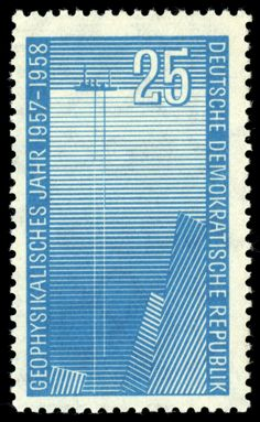 Stamps of Germany (DDR) MiNr 0617 - Internationales Geophysikalisches Jahr – Wikipedia University Of Michigan, East Germany, Postage Stamps, Outdoor Blanket, Europe, Science, Ebay, World, American Presidents