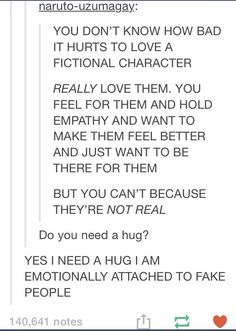 Love for fictional characters