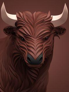 Área Visual - Blog de Arte y Diseño: Maxim Shkret. Ilustraciones de animales en 3D