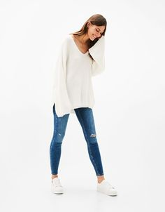 Jeans Skinny Fit 5 bolsillos - Jeans - Bershka España