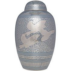 Funeral Urn by Liliane  Cremation Urn for Human Ashes  Hand Made in Brass and Hand Engraved  Fits the Cremated Remains of Adults  Display Burial Urn at Home or in Niche  Volando Model Large >>> Read more reviews of the product by visiting the link on the image.
