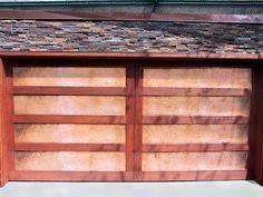 Copper And Wood Garage Door In San Diego