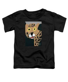 Patrick Francis Black Designer Toddler T-Shirt featuring the painting Jaguar 2014 by Patrick Francis