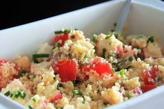 Terapia do Tacho: Salada de couscous e delícias do mar (Couscous and seafood salad)