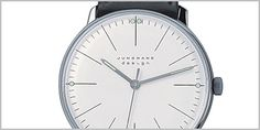The Max Bill Manual Lines Watch 3700 was designed by Max Bill for Junghans in the 1960's. This is an authentic edition, made by the original manufacturer Junghans.  For more information on this Watch visit the website.
