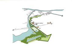 Park Schinkel Islands by Buro Sant en Co Landscape Architecture/ Amsterdam / Netherlands Urban Analysis, Site Analysis, Landscape Diagram, Wayfinding Signs, Urban Design Diagram, Landscape Architecture, Architecture Diagrams, Landscape Design, Project Presentation