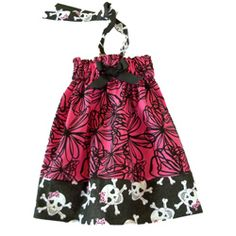@Overstock - This Hot dress with skull head trim halter dress by Just Girls offers a fun summer party theme. This dress is comfortable with a 1.5-inch wide ecletic empire wastline. http://www.overstock.com/Main-Street-Revolution/Just-Girls-Hot-Pink-Halter-Dress/6660323/product.html?CID=214117 $22.99