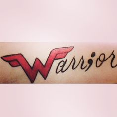 Warrior Tattoo: the Wonder Woman 'W' and the semicolon jab 10911 Instagram