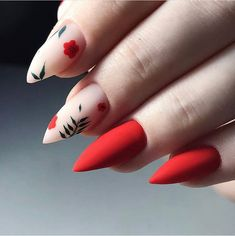 130 intricate short acrylic nails to express yourself - page 11 Dream Nails, Love Nails, Aycrlic Nails, Hair And Nails, Red Matte Nails, Stylish Nails, Trendy Nails, Best Acrylic Nails, Fancy Nails