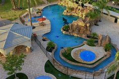 Backyard paradise with everything, including a lazy river - Las Vegas