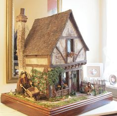 Wooden Dollhouse, Victorian Dollhouse, Dollhouse Miniatures, Miniature Fairy Gardens, Miniature Houses, Miniature Dolls, Mini Doll House, Tudor House, Fairy Garden Houses