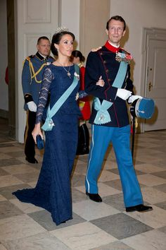 Princess Marie & Prince Joachim At Queen Margrethe's 75th Birthday Celebration.